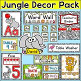 Jungle Animals Classroom Decor Pack - Name Labels, Classro