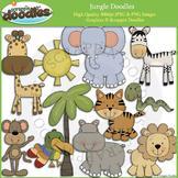 Jungle Doodles Clip Art