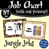 Jungle Jobs - Safari Themed Job Chart with Pictures!