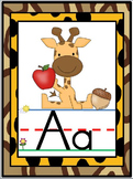 Jungle Safari Alphabet Line Posters A-Z