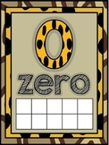 Jungle Safari Number Word Posters (0-10)