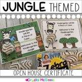 Jungle Theme Open House Treat Certificate (Zebra Cakes)