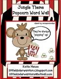 Jungle Theme Popcorn Word Wall
