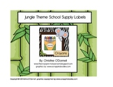 Jungle Theme School Supply Labels