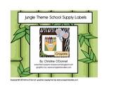 Jungle Theme School Supply Labels