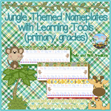 Jungle Themed Nameplates with Learning Tools {primary grades}