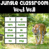 Jungle Theme Word Wall ~ 90 Sight Words *now editable!*