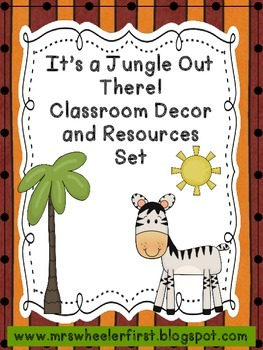 Jungle/Safari Theme Classroom Labels and Resources