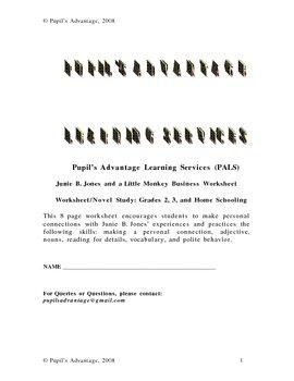 Junie B. Jones and a Little Monkey Business Worksheet