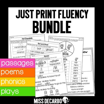 Just Print Fluency BUNDLE