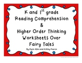K & 1st Grade Reading Comp & Higher Order Thinking Workshe