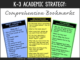K-2 Reading Comprehension Bookmarks {Print Concepts, Ficti