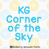 KG Corner of the Sky Font: Personal Use