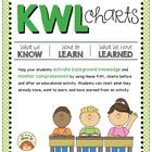 KWL Graphic Organizer Charts