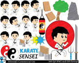 Karate kids Set Clipart Digital Clip Personal Commercial U