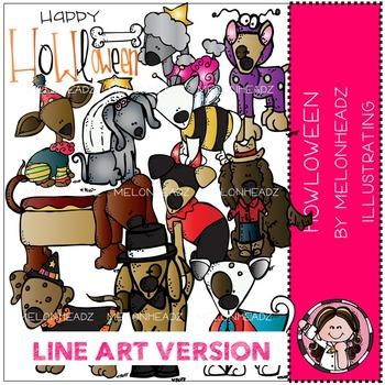 Kelli's Howloween by Melonheadz LINE ART