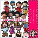 Kidlettes 2 by Melonheadz LINE ART