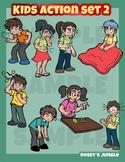 Kids clip art action set 2 - Illness, malaise, ailment sic