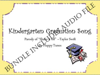 "Kinder ""Shake it Off' graduation parody. BUNDLE. Mp3 guide and instrumental.."