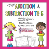 Kindergarten Addition and Subtraction: 35 Practice Pages /