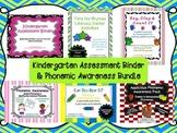Kindergarten Assessment Data Binder & Phonemic Awareness Bundle