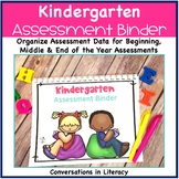 Kindergarten Assessment Data Binder