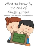 Kindergarten Assessments and Resources