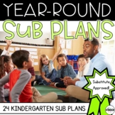 Kindergarten C.C. Aligned Print & Go Sub Plans for the Yea