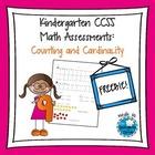 Kindergarten CCSS Math Assessments Freebie