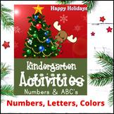 Kindergarten Christmas Activities (Numbers and ABCs)