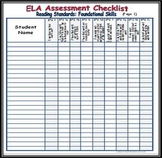 Kindergarten ELA Common Core Assessment Bundle