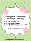 Kindergarten Common Core Assessment:  K.CC.A.1, K.CC.A.2,