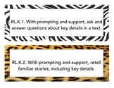 Kindergarten Common Core LA Objectives - Animal Print
