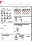 Kindergarten Common Core Math Assessment SHORT Form A (10
