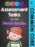 Kindergarten Common Core Math Assessment Tasks (Fourth Quarter)