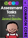 Kindergarten Common Core Math Assessment Tasks (Second Quarter)