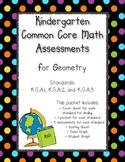 Kindergarten Common Core Math Assessments- Geometry K.G.1,
