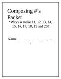 "Kindergarten Common Core Math ""Composing Numbers"" Sums of 20"