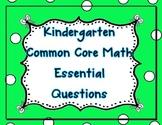 Kindergarten Common Core Math Essential Questions