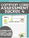 Kindergarten Common Core Standards Assessment Packet - Quarter 4