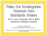 Kindergarten Common Core Standards Posters - Polka Dot Theme