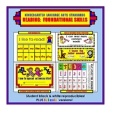 Kindergarten Common Core Standards: Reading: Foundational Skills