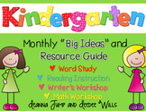 Kindergarten Curriculum Map FREEBIE
