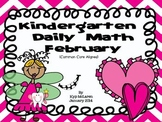 Kindergarten Daily Math February - NO PREP! (Common Core Aligned)
