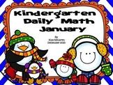 Kindergarten Daily Math January - NO PREP! (Common Core Aligned)