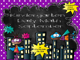 Kindergarten Daily Math - September (Common Core Aligned)
