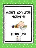 Kindergarten Daily Work Packet