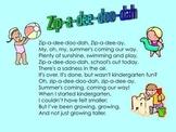 Kindergarten Graduation Poems and Songs for SmartBoard