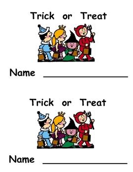 Kindergarten Halloween Emergent Reader- Trick or Treat