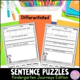 Kindergarten Sentence Puzzles